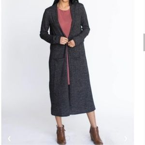 Agnes & Dora Long Gray Duster Cardigan Sweater
